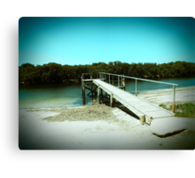 Jetty to a salty creek Canvas Print