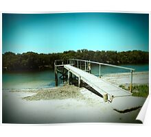 Jetty to a salty creek Poster