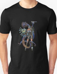 Future Worlds .. sci fi fairy and dragon T-Shirt