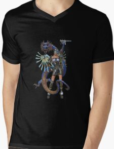 Future Worlds .. sci fi fairy and dragon Mens V-Neck T-Shirt