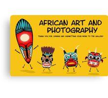African art banner Canvas Print