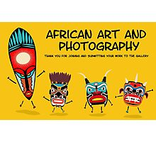 African art banner Photographic Print