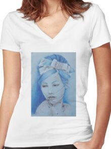 Ice Queen Women's Fitted V-Neck T-Shirt