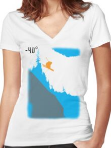 Cliff Drop 2 Women's Fitted V-Neck T-Shirt