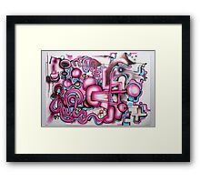 freehand airbrush and uni posca markers! Framed Print