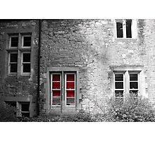 Red Blinds Photographic Print