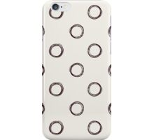 Hand-drawn pattern with circles. Polka dots. iPhone Case/Skin