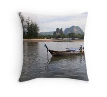 Long Boat Throw Pillow