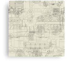 Seamless pattern vehicles design Canvas Print