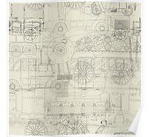 Seamless pattern vehicles design Poster