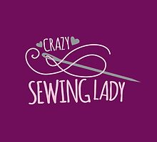 Crazy Sewing Lady by jazzydevil