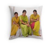 Punjabi women Throw Pillow