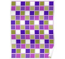 Harlequin Sage Green Lavender Purple Color Tiles Poster