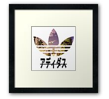 Adidas pixelated landscape Framed Print
