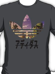 Adidas pixelated landscape T-Shirt