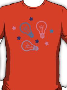 Cute Pastels Lightbulb Pattern T-Shirt
