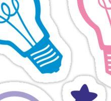 Cute Pastels Lightbulb Pattern Sticker