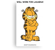 Classic Garfield Humour Canvas Print