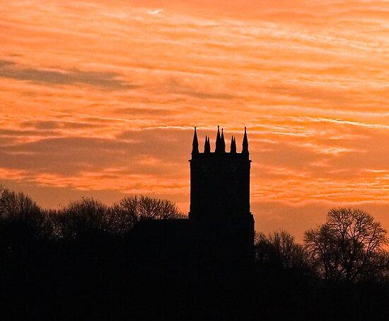 church sihouette by frank Yule