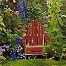Old Chair InThe Garden by Linda Miller Gesualdo