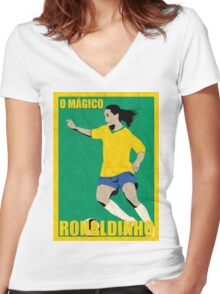 Ronaldinho Women's Fitted V-Neck T-Shirt