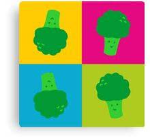Popart Funny, Broccoli Canvas Print