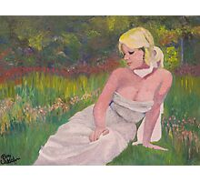 Lady  in the Garden. Photographic Print