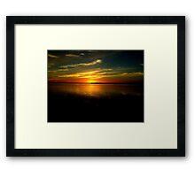 Blue Sun Set Framed Print