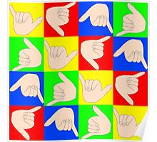 Shaka colorful pattern  Poster