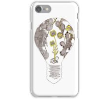 Lightbulb abstract wildlife pattern iPhone Case/Skin