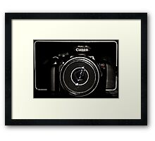 Canon Rebel T3 front Framed Print