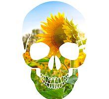 Skull Sunflower by QueerMerch