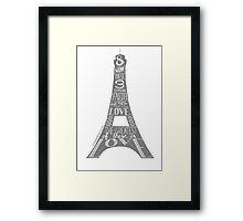 Eiffel Tower - Faith, Hope, Love Framed Print