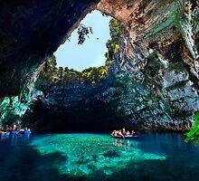 Melissani cave-lake, Kefalonia island by Hercules Milas