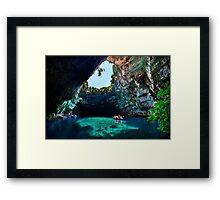 Melissani cave-lake, Kefalonia island Framed Print