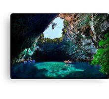 Melissani cave-lake, Kefalonia island Canvas Print