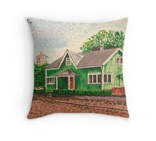 The Green House Throw Pillow
