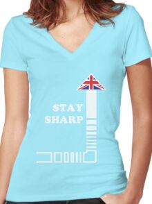 Stay Sharp Women's Fitted V-Neck T-Shirt