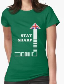 Stay Sharp Womens Fitted T-Shirt