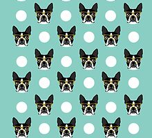 Logan - Boston Terrier pattern polka dots dog print gift for dog person dog lovers terrier custom by PetFriendly