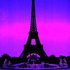 Eiffel Tower Silhouette by parakeetart