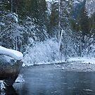 Merced River in Winter, Yosemite Valley by David Recht