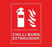 Funny Chilli Burn Fire Extinguisher Spicy Chilli Curry by CreativeTwins