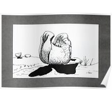 Henry Moore style BOULDER Poster