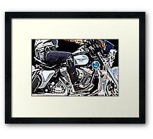 Motorcycle Cop Framed Print