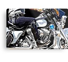 Motorcycle Cop Metal Print