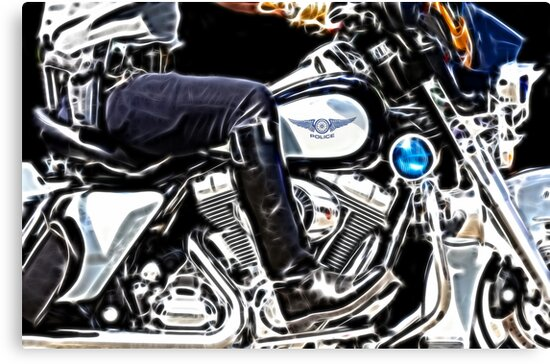 Motorcycle Cop by Beverly Lussier