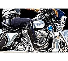Motorcycle Cop Photographic Print