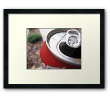 Soda Can Framed Print