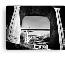 Three bridges over Ouseburn Canvas Print